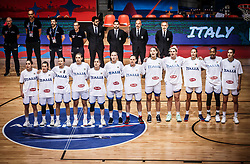 Team Italy listening to the National anthem during basketball match between Women National teams of Italy and Slovenia in Group phase of Women's Eurobasket 2019, on June 30, 2019 in Sports Center Cair, Nis, Serbia. Photo by Vid Ponikvar / Sportida