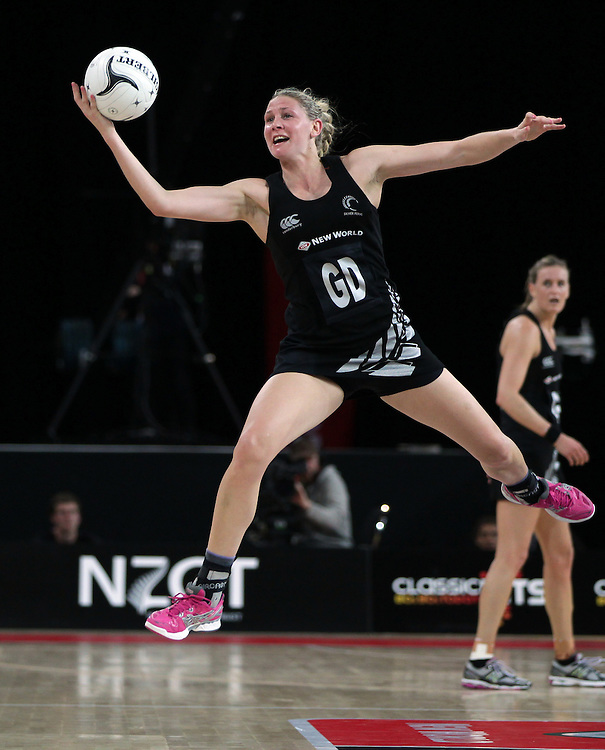 New Zealand's captain Casey Kopua in action against Australia in the New World Netball Series match, Vector Arena, Auckland, New Zealand, Thursday, September 19, 2013.  Credit:SNPA / David Rowland