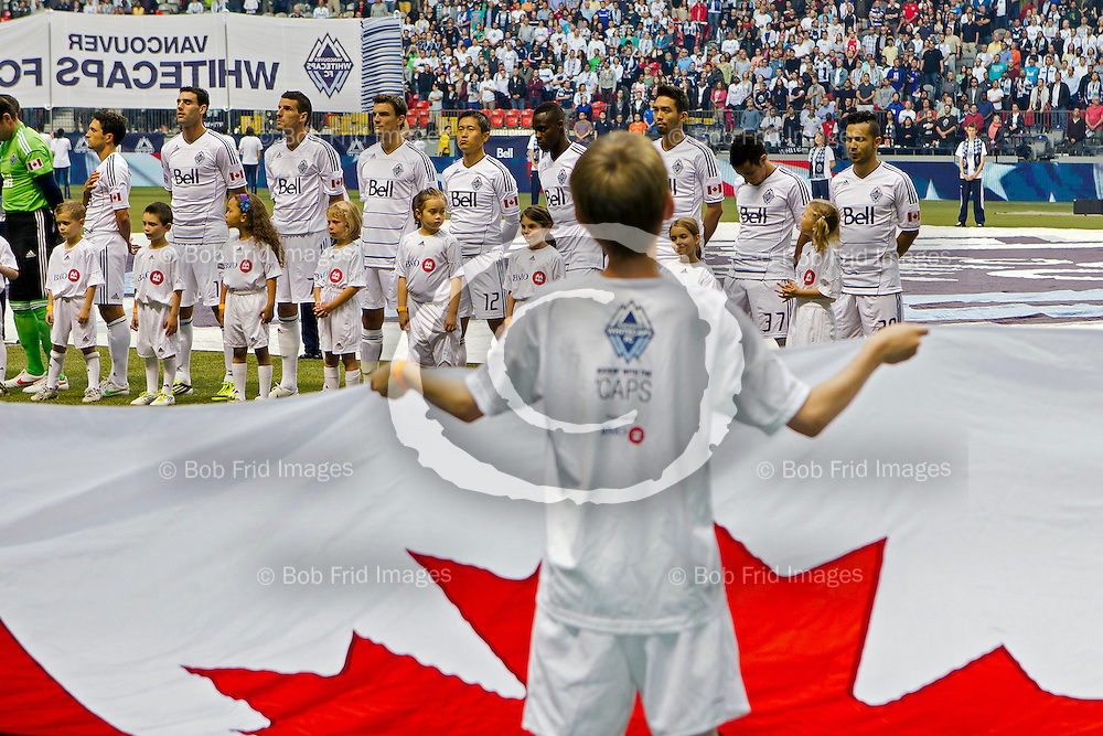 20 June 2012:   Action during a game between Vancouver Whitecaps FC and New York Red Bulls on Bell Pitch Downtown at BC Place Stadium in Vancouver, BC, Canada.  FInal Score:  Vancouver 1 New York 1    ****(Photo by Bob Frid - Vancouver Whitecaps) All Rights Reserved