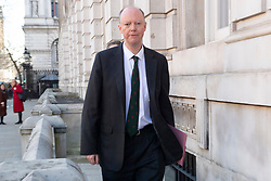 © Licensed to London News Pictures. 16/03/2020. London, UK. Chief Medical Officer Professor Chris Whitty arrives at Cabinet Office to attend a Cobra emergency meeting to discuss a further course of action in response to the coronavirus outbreak. Photo credit: Ray Tang/LNP