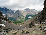 An alpine spire on the north side of Sentinel Pass; Banff National Park, Alberta, Canada