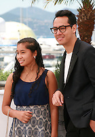 Actress Karen Torres and Actor Carlos Clavijo at the Alias Maria film photo call at the 68th Cannes Film Festival Wednesday May 20th 2015, Cannes, France.