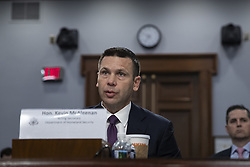 April 30, 2019 - Washington, District of Columbia, U.S. - Acting Department of Homeland Security Secretary Kevin McAleenan testifies before the U.S. House of Representatives Appropriations Committee during a hearing on the Department of Homeland Security budget request for the 2020 fiscal year on Capitol Hill in Washington, D.C. on April 30, 2019.  Credit: Alex Edelman / CNP (Credit Image: © Alex Edelman/CNP via ZUMA Wire)