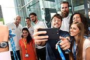 Luigi Datoma, Marco Cusin, Andrea Cinciarini, Luca Vitali<br /> Raduno Nazionale Italiana Maschile Senior<br /> Media Day - Sky <br /> Milano, 21/07/2017<br /> Foto Ciamillo-Castoria/ M.Ceretti