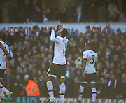 Tottenham Hotspur midfielder Mousa Dembele celebrating scring 2-1 during the Barclays Premier League match between Tottenham Hotspur and Sunderland at White Hart Lane, London, England on 16 January 2016. Photo by Matthew Redman.