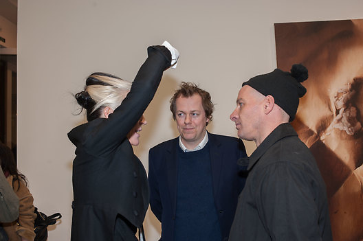 DAPHNE GUINNESS; TOM PARKER BOWLES; PAUL ROWE, This is not an Exit. Mat Collishaw. Blain Southern. Hanover Sq. London. 13 February 2013.