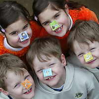 FREE TO USE PIX.<br />Royal Mail launch new stamps celebrating the discovery of DNA...Pictured eight year old twins Terri and Claire Marsh and seven year old triplets, Daniel, Ryan and Matthew Elder who all attend Caledonian Road Primary school in Perth..<br />See press release from Gordon Walker tel: 01786 842688<br />Picture by Graeme Hart.<br />Copyright Perthshire Picture Agency<br />Tel: 01738 623350  Mobile: 07990 594431