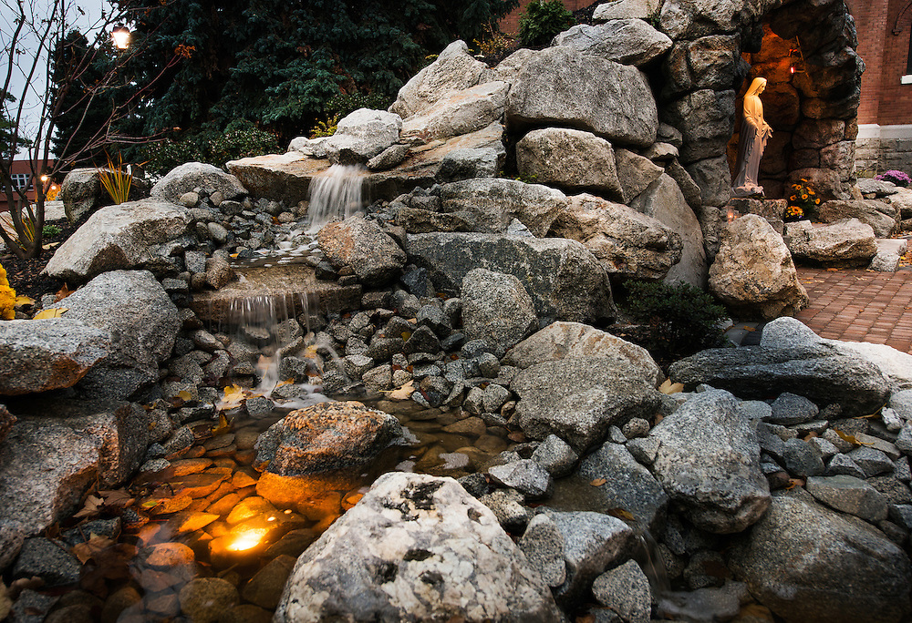 The new Grotto includes a lush landscape and a soothing water feature.<br /> <br /> Photo by Rajah Bose