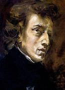 Frédéric François Chopin, 1810 - 1849), Polish composer and pianist. portrait by Eugene Delacroix