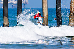 Italo Ferreira (BRA) advances to Round 3 of the 2018 VANS US Open of Surfing after winning Heat 13 of Round 2 at Huntington Beach, California, USA.