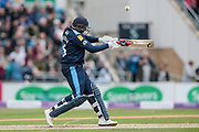 Tim Bresnan (Yorkshire Vikings) mistimes a stroke and sends it skywards. Vilas catches him out and he departs during the Royal London 1 Day Cup match between Yorkshire County Cricket Club and Lancashire County Cricket Club at Headingley Stadium, Headingley, United Kingdom on 1 May 2017. Photo by Mark P Doherty.