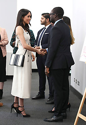 Meghan Markle during a reception with delegates from the Commonwealth Youth Forum at the Queen Elizabeth II Conference Centre, London, during the Commonwealth Heads of Government Meeting.