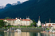 Alaska. Sitka. View across Sitka Channel of downtown.