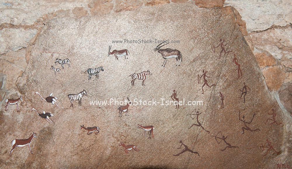 The White Lady Bushman rock painting, Brandberg Mountain, Damaraland, Namibia