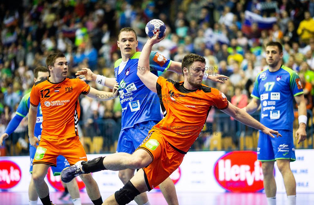 14-04-2019 SLO: Qualification EHF Euro Slovenia - Netherlands, Celje<br /> Evert Kooijman of Netherlands during handball match between National teams of Slovenia and Netherlands in Qualifications of 2020 Men's EHF EURO