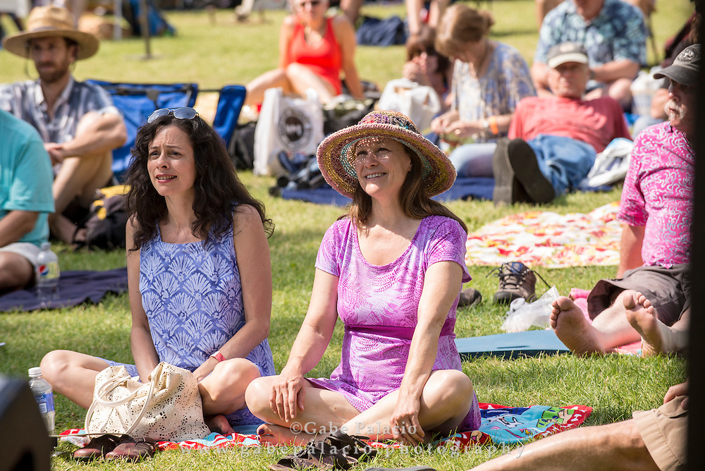 Spectators at the American Roots Music Festival at Caramoor in Katonah New York on June 28, 2014. <br /> (photo by Gabe Palacio)