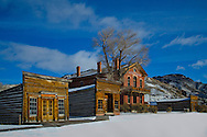 Bannack State Park is a ghost town with 60 buildings abandoned with over 60 buildings located near Dillon, Montana.