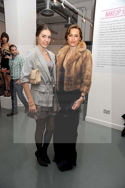 Left to right, AMBER LE BON and her mother YASMIN LE BON at a party to celebrate the launch of the Bobbi Brown Makeup Manual held at the Getty Images Gallery, 46 Eastcastle Street, London W1 on 29th January 2009.