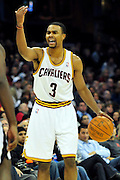 Oct. 30, 2010; Cleveland, OH, USA; Cleveland Cavaliers point guard Ramon Sessions (3) calls a play during the fourth quarter against the Sacramento Kings at Quicken Loans Arena. The Kings beat the Cavaliers 107-104. Mandatory Credit: Jason Miller-US PRESSWIRE
