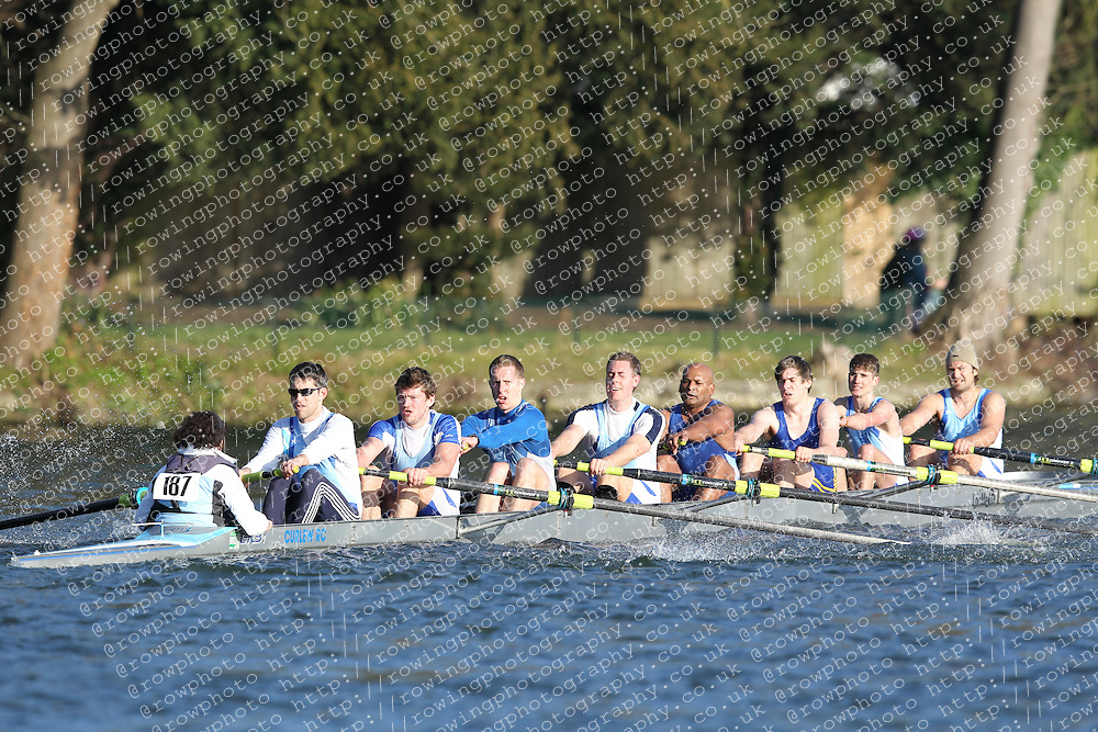 2012.02.25 Reading University Head 2012. The River Thames. Division 2. Curlew Rowing Club B IM2 8+