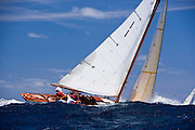 Taru sailing in the 2010 Antigua Classic Yacht Regatta, Windward Race, day 4.