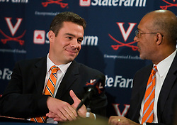 Virginia athletic director Craig Littlepage introduces Tony Bennett as the new UVA head men's basketball coach.  Tony Bennett was introduced at the new head coach of the University of Virginia's men's basketball program at a press conference held at the John Paul Jones Arena in Charlottesville, VA on April 1, 2009.