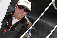 ENGLAND, Cowes. 10th August 2011. Training with Abu Dhabi Ocean Racing. Rob Greenhalgh, Watch Leader.