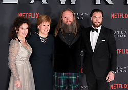 Outlaw King Premiere, Edinburgh, Friday 19th October 2018<br /> <br /> Outlaw King is a Netflix film and follows 14th century Scottish king Robert the Bruce prior to his coronation and through to his rebellion against the English, who at the time were occupying Scotland.<br /> <br /> Stars, crew and guests appear on the red carpet for the Scottish premiere.<br /> <br /> Pictured: Producer Gillan Berrie, First Minister Nicola Sturgeon, director David Mackenzie and Aaron Taylor-Johnson<br /> <br /> Alex Todd | Edinburgh Elite media