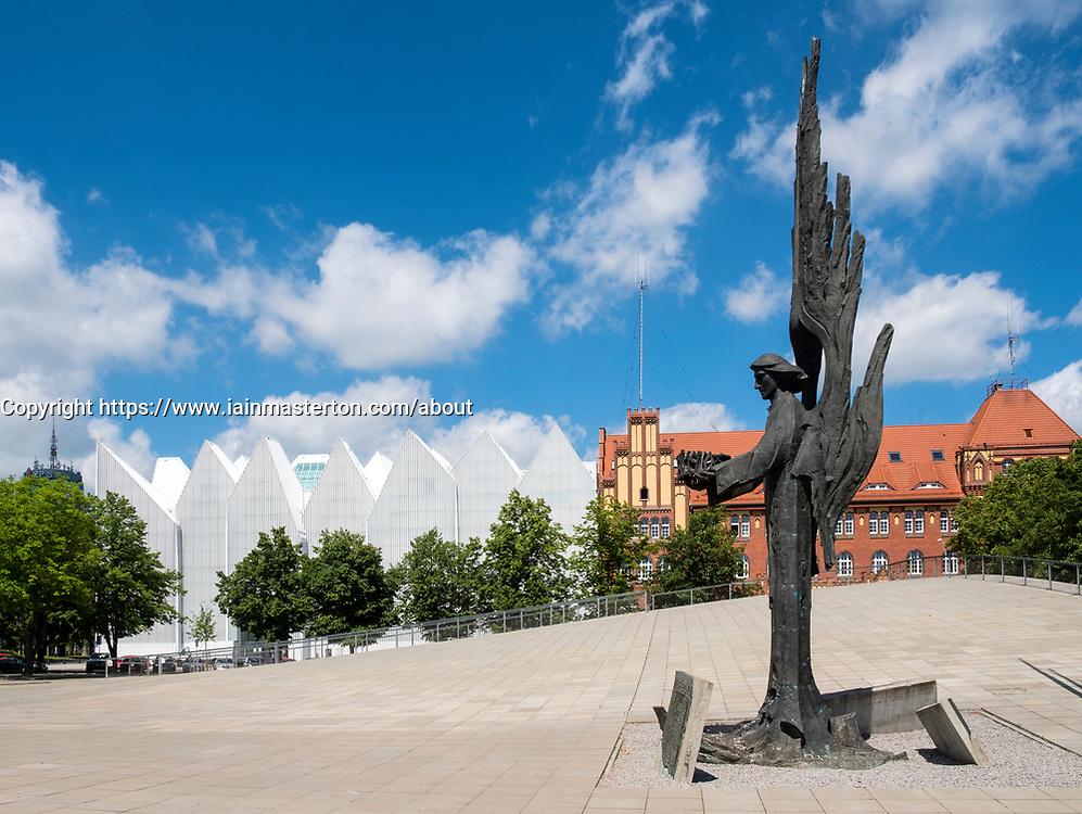 Angel of Freedom monument at Plac Solidarnosci Szczecin, Poland