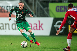 24-01-2018 NED: FC Utrecht - Feyenoord, Utrecht<br /> Utrecht speelt 1-1 gelijk tegen Feyenoord / Feyenoord forward Sam Larsson #11