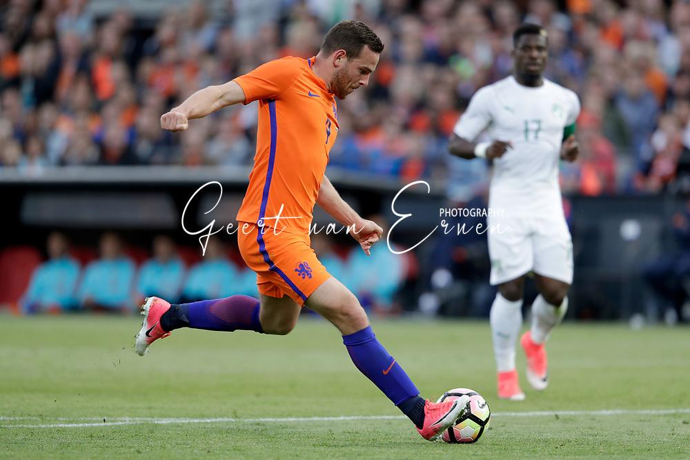 04-06-2017 VOETBAL:NEDERLAND-IVOORKUST:ROTTERDAM<br /> Oranje oefende tegen Ivoorkust vanavond in De Kuip<br /> <br /> Vincent Janssen van Oranje (Tottenham Hotspur) <br /> <br /> Foto: Geert van Erven