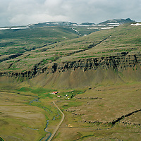 Hamarssel séð til vesturs, Djúpavogshreppur áður Geithellnahreppur / Hamarssel viewing west, Djupavogshreppur former Geithellnahreppur.