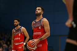 Lewis Champion of Bristol Flyers with a free throw - Photo mandatory by-line: Arron Gent/JMP - 07/12/2019 - BASKETBALL - Surrey Sports Park - Guildford, England - Surrey Scorchers v Bristol Flyers - British Basketball League Championship