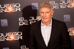 03.10.2013, Villa Magna Hotel, Madrid, ESP, Enders Game Photocall, im Bild US actor Harrison Ford poses // during a photocall for the film Ender's Game, Villa Magna Hotel, Madrid, Spain on 2013/10/03. EXPA Pictures © 2013, PhotoCredit: EXPA/ Alterphotos/ Ricky Blanco<br /> <br /> ***** ATTENTION - OUT OF ESP and SUI *****