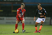 York City midfielder Kenny McEvoy  during the Sky Bet League 2 match between York City and Exeter City at Bootham Crescent, York, England on 16 February 2016. Photo by Simon Davies.