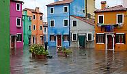 Burano, the multicolor Island. Venice, Italy.