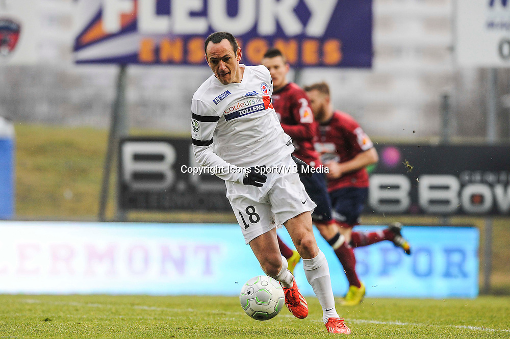 Sebastien ROUDET - 24.01.2015 - Clermont / Chateauroux  - 21eme journee de Ligue2<br />