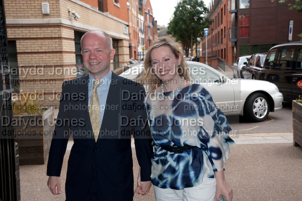 WILLIAM HAGUE; FFION HAGUE, Summer party hosted by Rupert Murdoch. Oxo Tower, London. 17 June 2009
