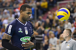 December 16, 2017 - Krakow, Poland - Yoandry Leal Hidalgo (9) of Sada Cruzeiro Volei in action during the match between Sada Cruzeiro Volei and VC Zenit kazan during the semi finals of Volleyball Men's Club World Championship 2017 in Tauron Arena. (Credit Image: © Omar Marques/SOPA via ZUMA Wire)