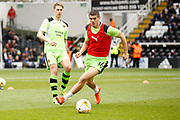 Wolverhampton Wanderers midfielder Conor Coady (16) warms up before kick off during the EFL Sky Bet Championship match between Fulham and Wolverhampton Wanderers at Craven Cottage, London, England on 18 March 2017. Photo by Andy Walter.