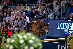 FREDRICSON Peder (SWE), H&M All In<br /> Göteborg - Gothenburg Horse Show 2019 <br /> Longines FEI World Cup™ Final I<br /> Int. jumping competition - speed and handiness<br /> Longines FEI Jumping World Cup™ Final and FEI Dressage World Cup™ Final<br /> 04. April 2019<br /> © www.sportfotos-lafrentz.de/Stefan Lafrentz