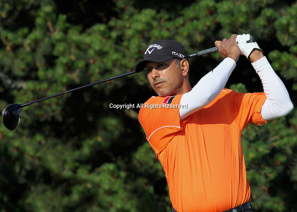 22.07.12 Lytham & St Annes, England. India's Jeev Milkha Singh in action during the fourth and final round of The Open Golf Championship from the Royal Lytham & St Annes course in Lancashire