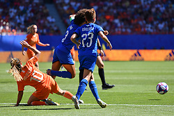 June 30, 2019 - Valenciennes, France - Danielle Van De Donk of Netherlands vies Manuela Giugliano and Sara Gama of Italy during the quarter-final between in ITALY and NETHERLANDS the 2019 women's football World cup at Stade du Hainaut, on the 29 June 2019. (Credit Image: © Julien Mattia/NurPhoto via ZUMA Press)
