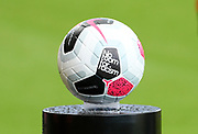 The match ball with a Kick it Out No Room For Racism logo ahead of the Premier League match between Bournemouth and Norwich City at the Vitality Stadium, Bournemouth, England on 19 October 2019.