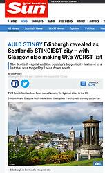 The Scottish Sun; Skyline of Edinburgh
