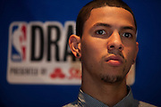 {June 27, 2012} {4:00pm} -- New York, NY, U.S.A.Duke basketball star Austin Rivers as he goes through his day on Wednesday before the NBA draft Thursday in Manhattan, New York on June 27, 2012. .