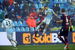 """Foto Filippo Rubin<br /> 03/03/2018 Ferrara (Italia)<br /> Sport Calcio<br /> Spal - Bologna - Campionato di calcio Serie A 2017/2018 - Stadio """"Paolo Mazza""""<br /> Nella foto: ALBERTO GRASSI (SPAL) E ADAM MASINA  (BOLOGNA)<br /> <br /> Photo by Filippo Rubin<br /> March 03, 2018 Ferrara (Italy)<br /> Sport Soccer<br /> Spal vs Bologna - Italian Football Championship League A 2017/2018 - """"Paolo Mazza"""" Stadium <br /> In the pic:"""