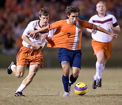 Virginia Cavaliers MF Jeremy Barlow (7) ..The #4 ranked Virginia Cavaliers men's soccer team tied the Virginia Tech Hokies 1-1 at Klockner Stadium in Charlottesville, VA on September 28, 2007.