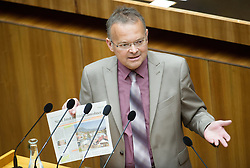 16.06.2016, Parlament, Wien, AUT, Parlament, Nationalratssitzung, Sitzung des Nationalrates mit Wahl der neuen Rechnungshofpräsidentin, im Bild Nationalratsabgeordneter FPÖ Hauser // Member of Parliament FPOe Gerald Hauser during meeting of the National Council of austria with election of the new president of the austrian court of audit at austrian parliament in Vienna, Austria on 2016/06/16, EXPA Pictures © 2016, PhotoCredit: EXPA/ Michael Gruber