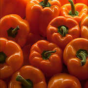 Colorful  Bell Peppers in food market<br /> <br /> Bell pepper (also known as Jon's Head or a pepper)  Bell peppers are high in para-coumaric acid.